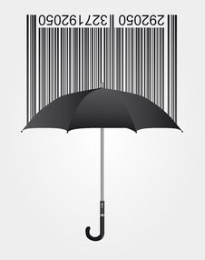 Free Bar Code And Umbrella Royalty Free Stock Photography - 20525337