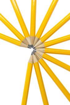 Free Pencils On White Royalty Free Stock Photos - 20525788