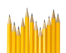 Free Pencils On White Royalty Free Stock Images - 20525809