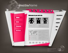 Free Business Website Design Template. Vector Royalty Free Stock Images - 20526369