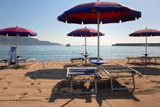 Free Sand Beach In Giardini Naxos, Sicily Stock Image - 20526481