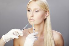 Free Blonde And Botox Injections 2 Royalty Free Stock Images - 20526569