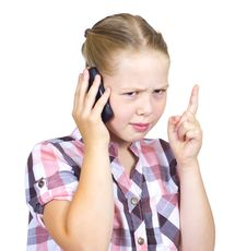 Free The Beautiful Girl Speaks On The Phone Royalty Free Stock Image - 20527706