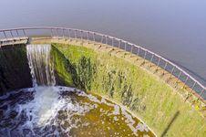 Lake Dam In Midsummer Stock Photo