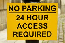 Free No Parking Sign Stock Image - 20528161