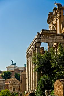 Forum Romanum , Italy. Stock Image