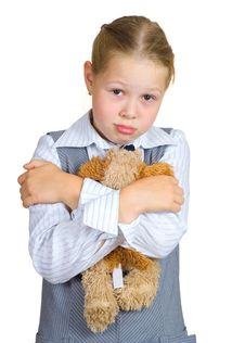 Free Schoolgirl With Plush Toy Royalty Free Stock Photography - 20528517