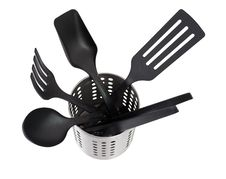 Free Kitchen Utensils In A Utensil Holder Stock Photo - 20528580