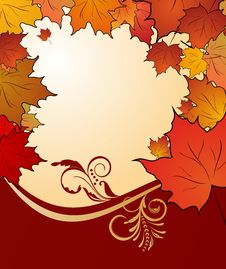 Free Autumn Floral Background With Maples Royalty Free Stock Photography - 20528877