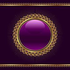 Free Golden Ornamental Medallion For Design Stock Image - 20528911