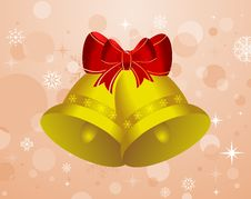 Free Christmas Background With Set Bells Royalty Free Stock Image - 20528916