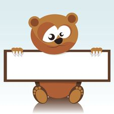 Free Bear Holding A Signboard Royalty Free Stock Photos - 20529428