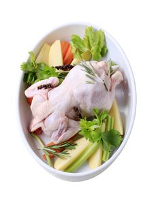 Free Raw Chicken And Vegetables Stock Photo - 20529480