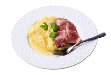 Free Mashed Potato And Smoked Pork Royalty Free Stock Photo - 20529555
