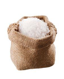 Free Sea Salt In A  Burlap Sack Royalty Free Stock Photos - 20529788