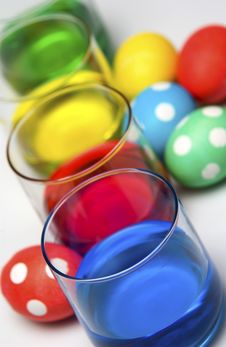 Free Dyeing Easter Eggs Stock Images - 20529994