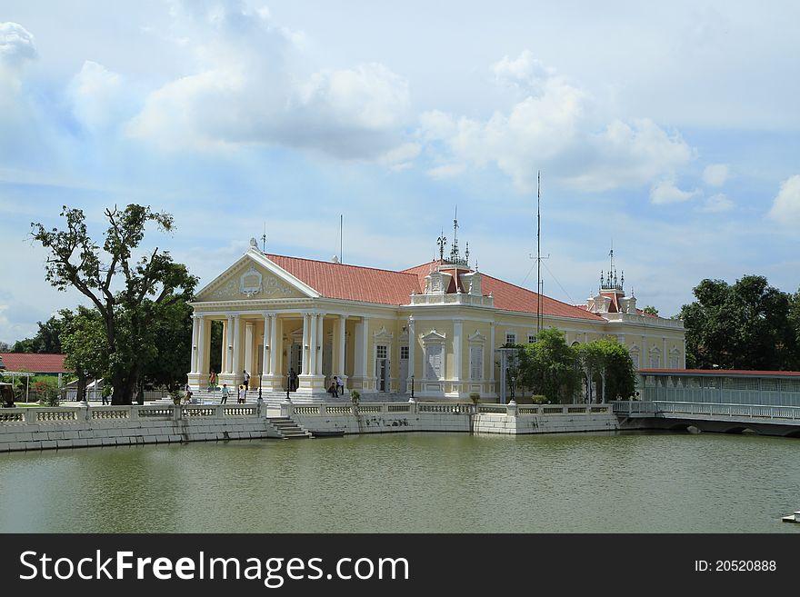 Bang pa in palace,Ayuthaya province,Thailand.