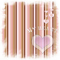 Free Valentine Card With  Heart On Striped  Background Royalty Free Stock Images - 20531499