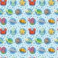 Free Cartoon Aquarium Animal Seamless Pattern Royalty Free Stock Photos - 20537508
