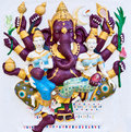Free Purple Eight Hands Ganesha With Angels Stock Images - 20539144