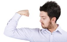 Powerful Young Business Man Stock Image