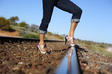 Free High Heels On Track Royalty Free Stock Image - 20530986