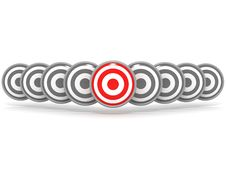 Free Right Target Concept Illustration Royalty Free Stock Photography - 20531337