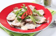 Free Thinly Sliced Pork Tenderloin Royalty Free Stock Image - 20531376