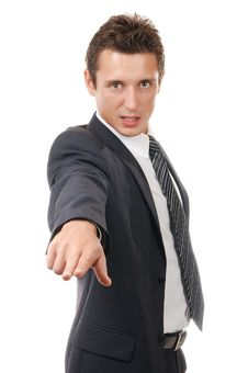Portrait Of A Young Ambitious Business Man Stock Image