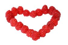 Free Heart Made Of Raspberries Stock Photography - 20532232