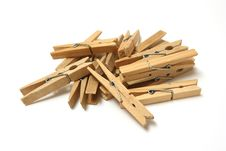 Free Wooden Pegs Royalty Free Stock Image - 20532826