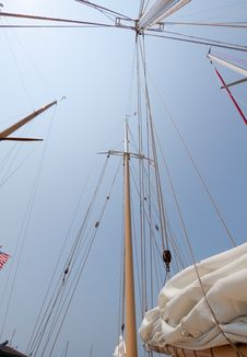 Free Views Of The Private Sail Yacht. Stock Photography - 20533432