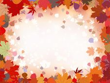 Free Autumn Leaves Border For Your Text. EPS 8 Stock Photo - 20533440