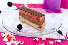 Free Slice Of Cherry Cake Royalty Free Stock Photography - 20533477
