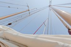 Free Views Of The Private Sail Yacht. Stock Images - 20533504