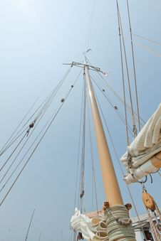 Free Views Of The Private Sail Yacht. Royalty Free Stock Images - 20533539