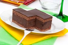 Free Chocolate Cake With Rum Royalty Free Stock Photography - 20533547
