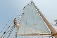 Free Views Of The Private Sail Yacht. Stock Photo - 20533600