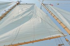 Free Views Of The Private Sail Yacht. Royalty Free Stock Photo - 20533615