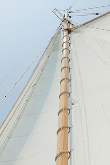 Free Views Of The Private Sail Yacht. Stock Images - 20533634