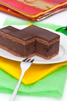Free Chocolate Cake With Rum Royalty Free Stock Photography - 20533637