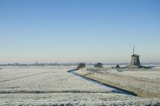 Free Dutch Winter Landscape Royalty Free Stock Image - 20533656