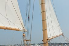 Free Views Of The Private Sail Yacht. Royalty Free Stock Photos - 20533678