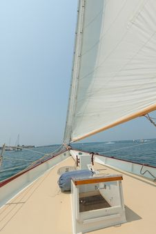 Free Views Of The Private Sail Yacht. Royalty Free Stock Images - 20533829