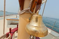 Free Brass Bell On The Private Sail Yacht. Stock Photography - 20533912