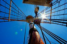 Free View Of Mast And Rigging On The Sail Ship. Stock Photo - 20533960