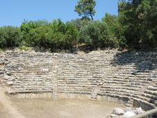 Ruins Of Ancient Theater Stock Photos