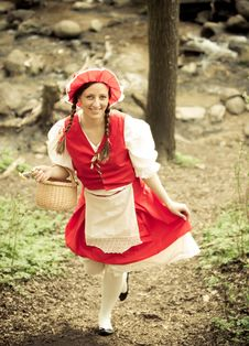 Free Red Riding Hood In The Forest Stock Photo - 20534620
