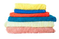 Terry Towels On White Stock Images