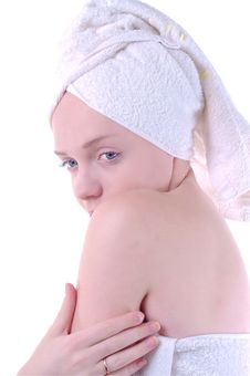 Girl After Shower Royalty Free Stock Photography